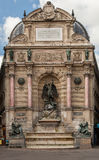 Saint Michel Fountain Paris France Stock Photo
