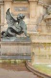 Saint-Michel Fountain Stock Images
