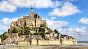 Saint Michel. Le mont saint michel stock image