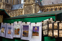 Saint Michel postcards in Notre Dame Paris Stock Photo