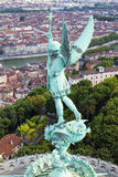 Saint Michel statue Stock Images