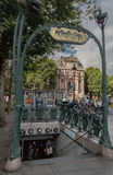 Saint Michel Subway Station de Paris image stock