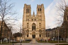 Saint-Michel und Sainte-Gudule lizenzfreie stockfotografie