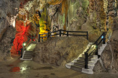 Saint Michelle cave interior details Royalty Free Stock Image