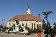 Saint Mihail cathedral from Cluj Napoca Royalty Free Stock Photography