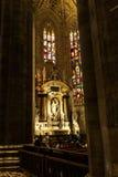 Saint at Milano cathedral Stock Photo