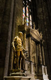 Saint at Milano cathedral Royalty Free Stock Photo