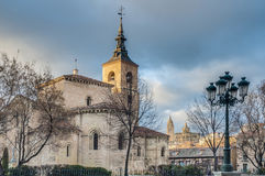 Saint Millan church at Segovia, Spain Royalty Free Stock Photos