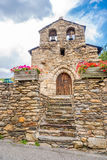 Saint Miquel d'église des couillons près de Canillo en Andorre Photo libre de droits