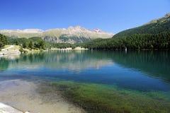 Saint moritz lake Stock Photography