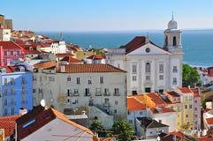 Saint Muguel church and Alfama, Lisbon Stock Photography