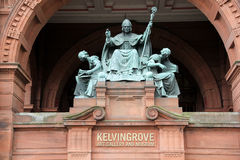 Saint Mungo Statue at Glasgow Museum and Art Gallery Scotland Royalty Free Stock Photography