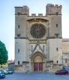 Saint Nazaire Cathedral de Beziers imagens de stock
