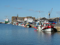 Saint Nazaire, France - august 2013,  harbor with fishing boats Stock Photo