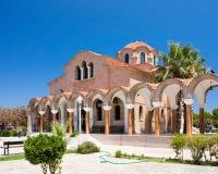 Saint Nectarios Church Faliraki Stock Photography