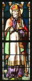 Saint Nicholas. Stained glass with Saint Nicholas Royalty Free Stock Photography
