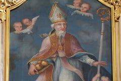 Saint Nicholas. Altarpiece in parish Church of Our Lady of snow in Kamensko, Croatia Stock Photography