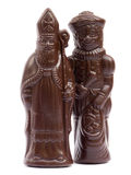 Saint Nicholas and Black Pete Chocolate Royalty Free Stock Photos