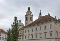 Saint Nicholas Cathedral of Ljubljana, Slovenia Royalty Free Stock Image