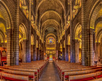 Saint Nicholas Cathedral in Monaco Ville. Interior of the Saint Nicholas Cathedral in Monaco Ville, Monaco; romanesque Catholic cathedral, dating back to 19th Royalty Free Stock Photo