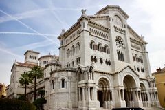 Saint Nicholas Cathedral in Monaco royalty free stock photo