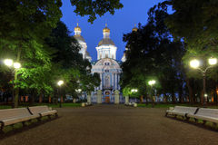 Saint Nicholas Cathedral, Saint Petersburg, Russia Royalty Free Stock Photo