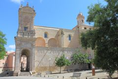 Saint Nicholas Cathedral Sassari Sardinia Italy image stock
