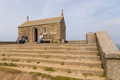 Saint Nicholas Chapel in Saint Ives during spring day. stock images
