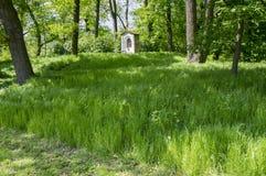 Saint Nicholas chapel near Kacina Chateau in public park, Czech republic royalty free stock images