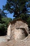 Saint Nicholas Chapel, Samaria Gorge Canyon, Crete, Greece Royalty Free Stock Photography