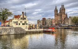 Saint Nicholas church in Amsterdam, Holland Stock Photos