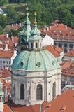 Saint Nicholas Church as seen from Petrin Towe Royalty Free Stock Photos