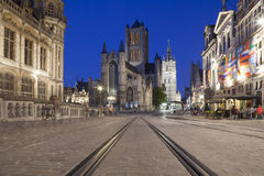Saint Nicholas Church and Belfry of Ghent Royalty Free Stock Images