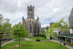 Saint Nicholas Church en Belgique Image libre de droits