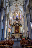 The Saint Nicholas' Church - interiour Royalty Free Stock Photo
