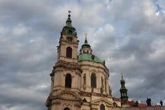 Saint Nicholas' Church at Mala Strana in Prague, Czech Republic. Saint Nicholas' Church at Mala Strana designed by Baroque architect Christoph Dientzenhofer in Royalty Free Stock Images