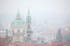 Saint Nicholas Church in Mala Strana in Prague, Czech Republic. Stock Images