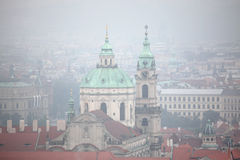 Saint Nicholas Church in Mala Strana in Prague, Czech Republic. Stock Photos