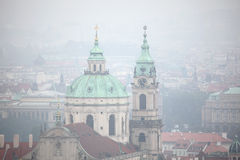 Saint Nicholas Church in Mala Strana in Prague, Czech Republic. Stock Photo