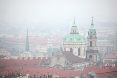 Saint Nicholas Church in Mala Strana in Prague, Czech Republic. Royalty Free Stock Photography