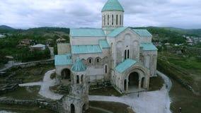 Saint Nicholas church in Mestia stock video
