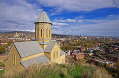 Saint Nicholas church in Narikala fortress Stock Photo
