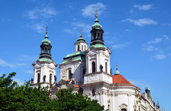 Saint Nicholas Church Prague - famous sights Royalty Free Stock Photography