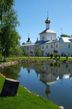 Saint Nicholas Church in The Tolga Convent. Ancient Saint Nicholas church in the Tolga convent near the city of Yaroslavl' in the spring Royalty Free Stock Photography
