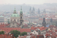 Saint Nicholas Church and Tyn Church in Prague, Czech Republic. Royalty Free Stock Photos