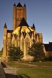 Saint Nicholas' Churchat night located in Ghent, Belgium Stock Image