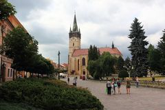 Saint Nicholas Concathedral in Presov Stock Photos
