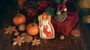 Saint Nicholas cookies royalty free stock image