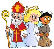 Saint Nicholas Day theme 1. Eps10 vector illustration stock illustration