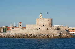 Saint Nicholas Fort, Rhodes, Greece Royalty Free Stock Image